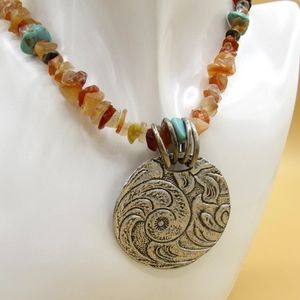 Coldwater Creek Necklace with Gemstones